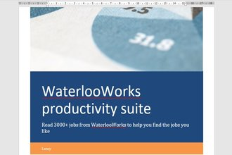 WaterlooWorks Productivity Suite